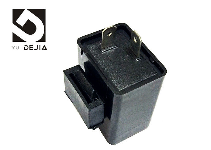 Black Universal Motorcycle Flasher Relay 2 Pin / 3 Pin ABS Plastic Material With Buzzer
